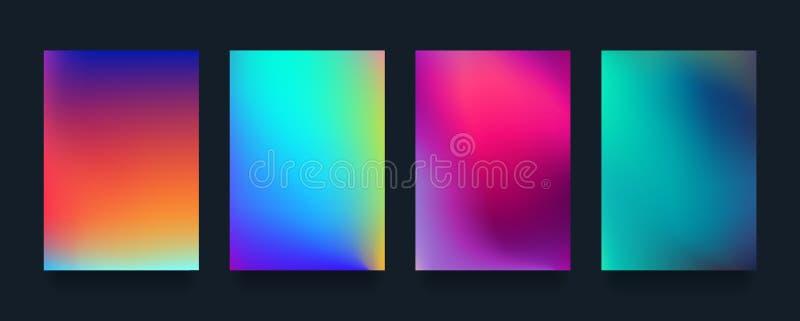 De minimale reeks van het dekkingsontwerp Moderne ontzagwekkende halftone gradiënten Koel toekomstig abstract geometrisch malplaa stock illustratie