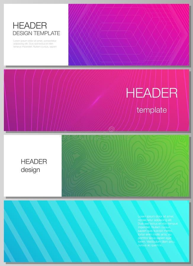 De minimalistic vectorillustratie van de editable lay-out van kopballen, de malplaatjes van het bannerontwerp Abstracte Geometris stock illustratie