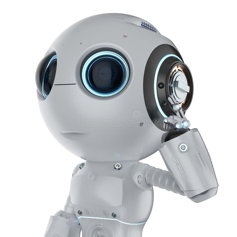 De minirobot denkt stock illustratie