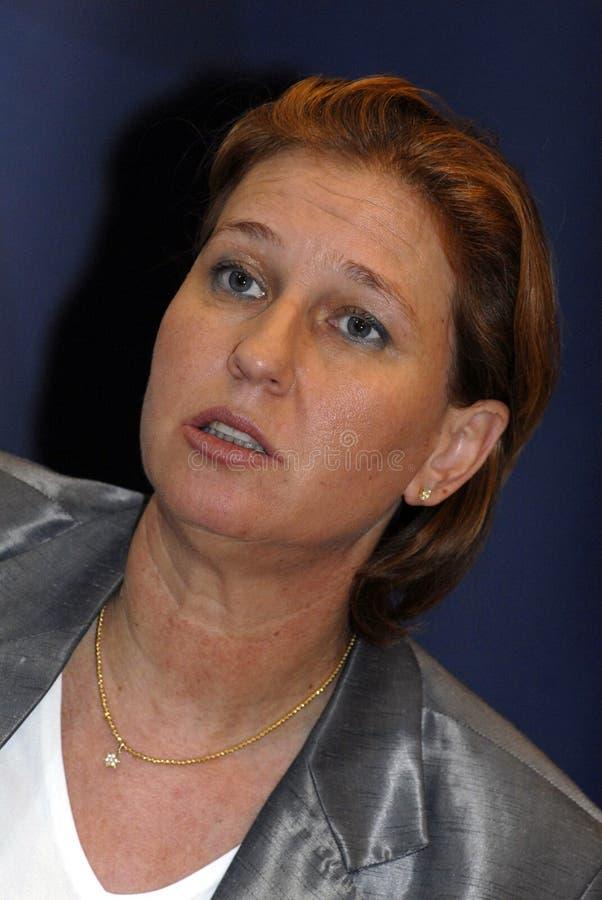 De MINISTER VAN BUITENLANDSE ZAKEN van Tzipi Livni IN DENEMARKEN royalty-vrije stock foto