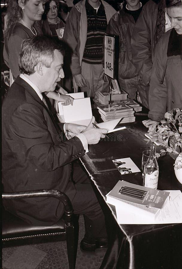 DE MINISTER VAN BUITENLANDSE ZAKEN 1982-1993 UFFE ELLEMANN JENSEN VAN DENEMARKEN ` S royalty-vrije stock afbeeldingen