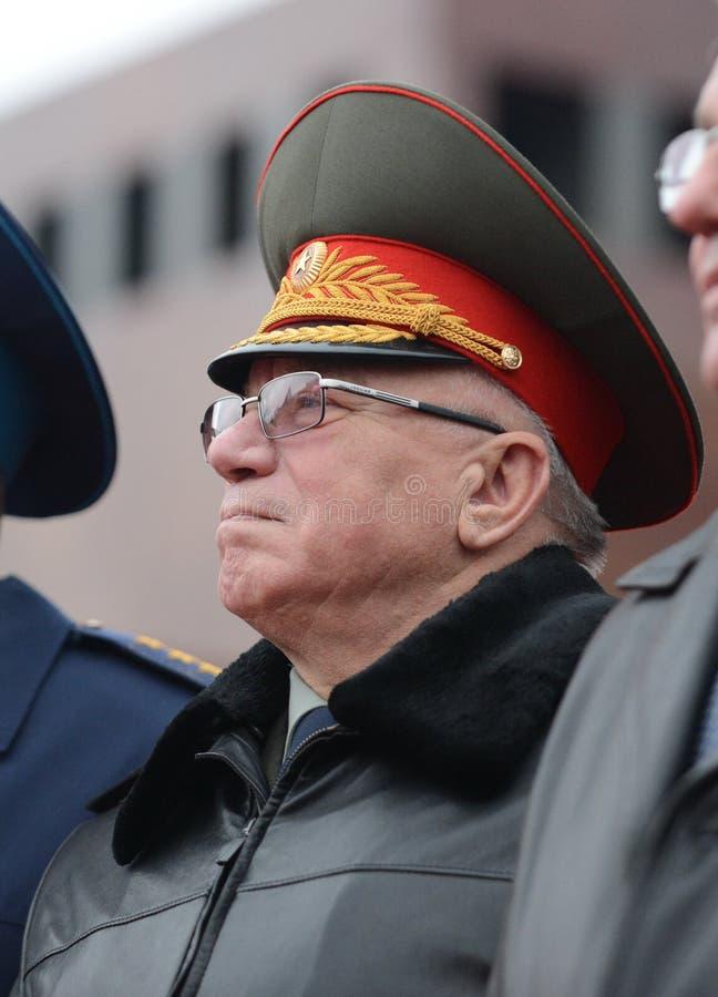 De Minister van interne Zaken van Rusland (1995-1998) Anatoly Sergeevich Kulikov stock foto
