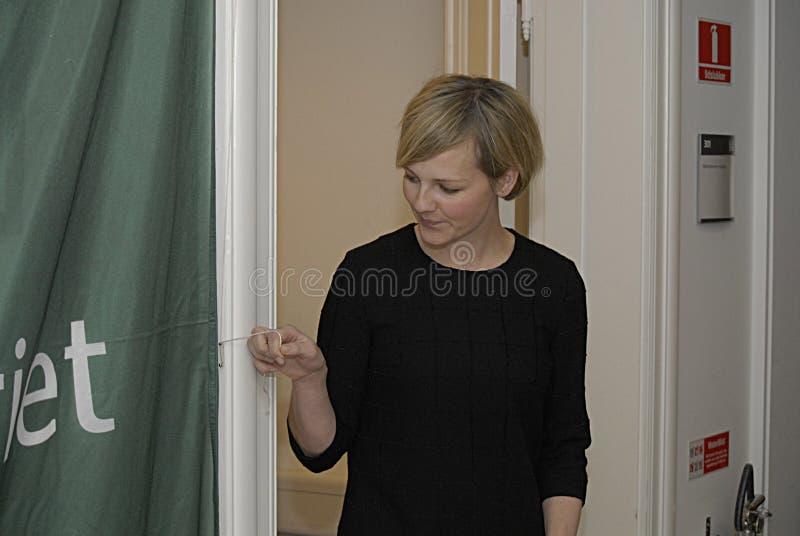 DE MINISTER VAN MS.IDA AUKEN VOOR MILIEU royalty-vrije stock fotografie