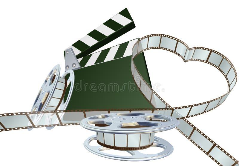 De minnaarconcept van de film vector illustratie