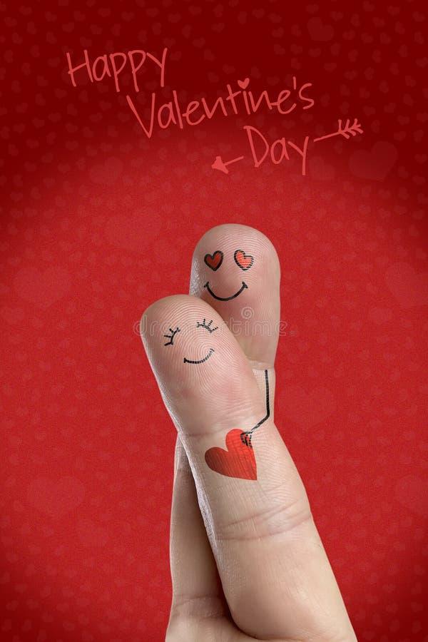 De minnaars omhelst en houdt rood hart Gelukkige het themareeks van de Valentijnskaartendag Het beeld van de voorraad vector illustratie
