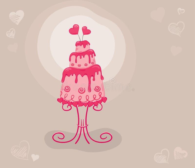 De Minnaars van de cake vector illustratie