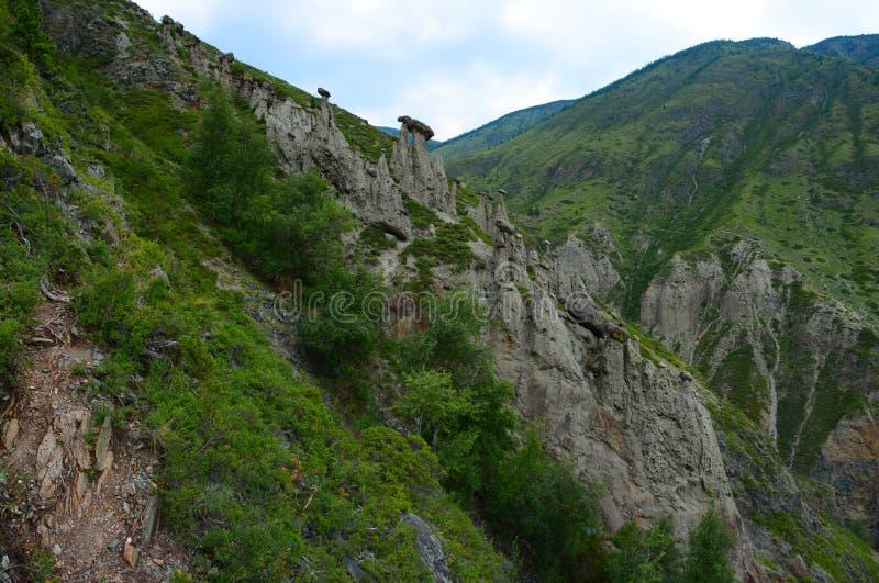 De mirakelsteen schiet Montering, Panorama van de grote grootte als paddestoelen uit de grond royalty-vrije stock fotografie