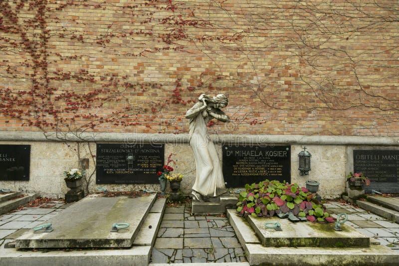 De Mirogoj-Begraafplaats stock afbeeldingen