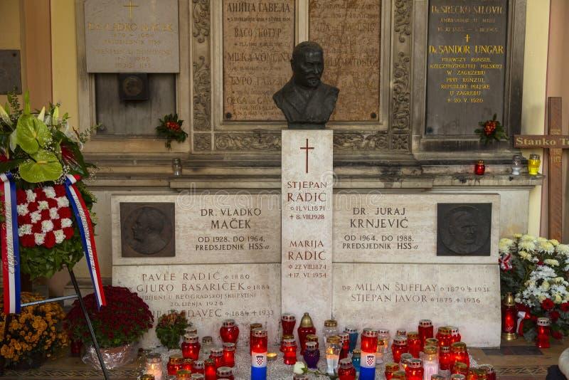 De Mirogoj-Begraafplaats, Zagreb Kroatië royalty-vrije stock foto's