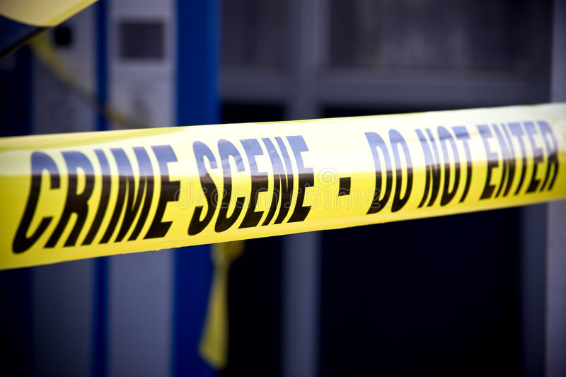 De misdaadscène van de politie stock afbeelding