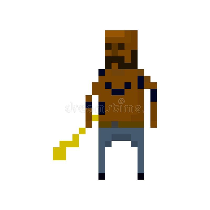 De misdadigers van het pixelkarakter vector illustratie
