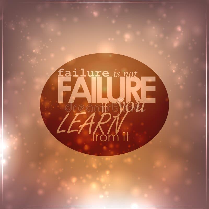 De mislukking is geen mislukking vector illustratie
