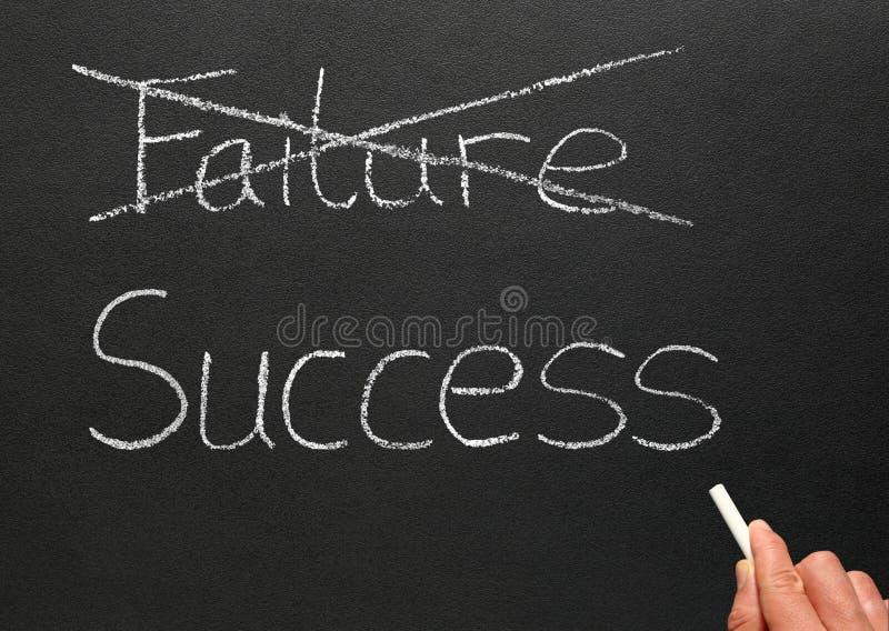 De mislukking van de schrapping en het schrijven succes. royalty-vrije stock afbeelding