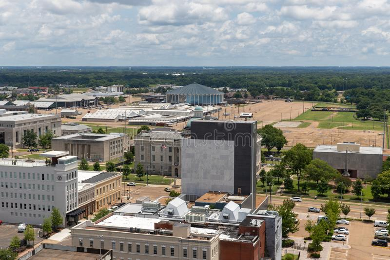 De Mississippi Coliseum en Jackson Van de binnenstad stock fotografie
