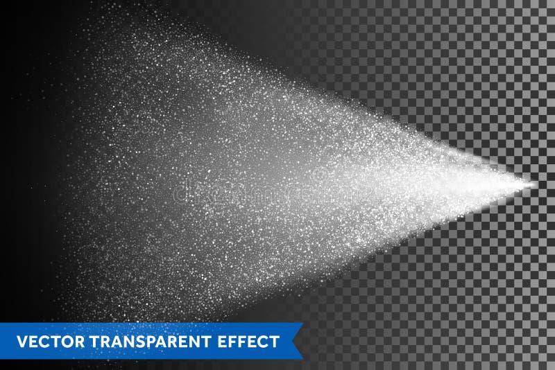 De mist van de waternevel van verstuiver Vector licht verspreidingseffect stock illustratie