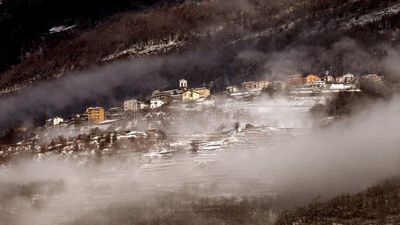 De mist van de winter royalty-vrije stock afbeelding