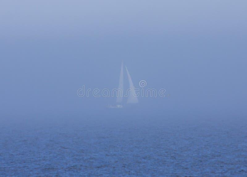 De Mist van de zeilboot stock foto's