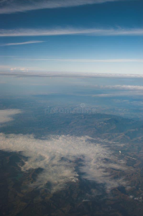 De mist van Monring vally. stock foto's
