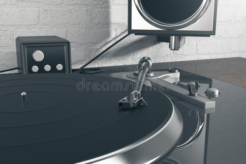 De mixer en de luidspreker van DJ vector illustratie