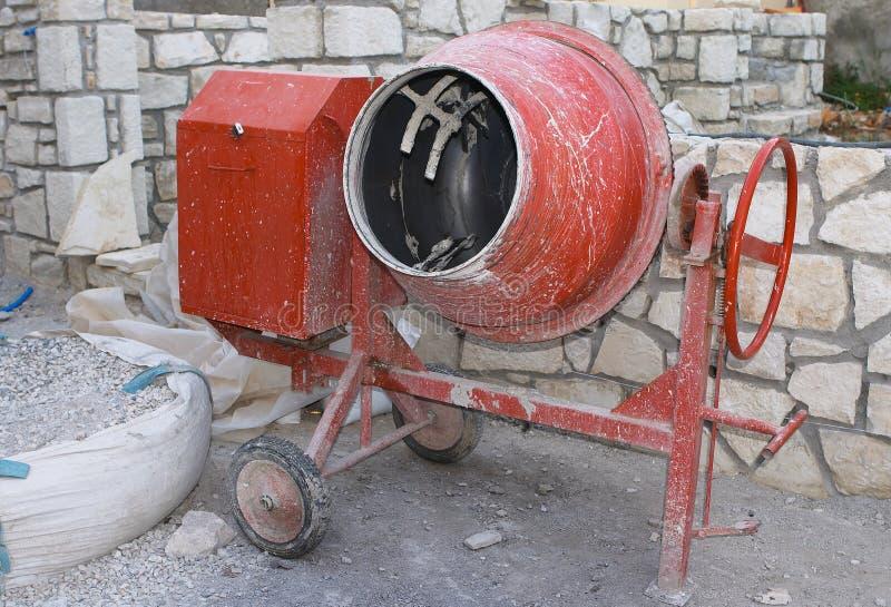 De mixer van het cement stock foto's