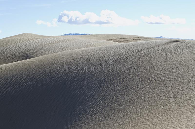 De mjuka sandiga dyerna i desretlandet royaltyfri bild