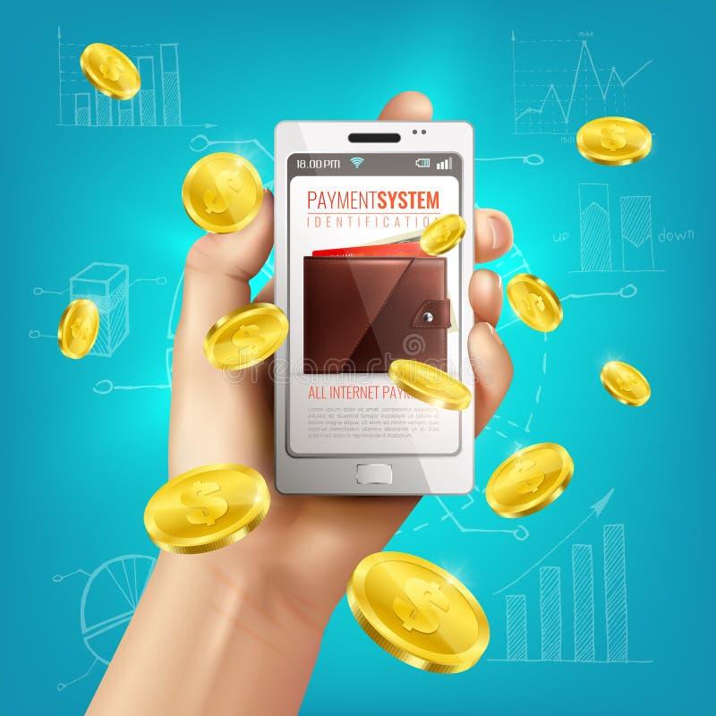 De mobiele Achtergrond van de Bankwezenportefeuille vector illustratie