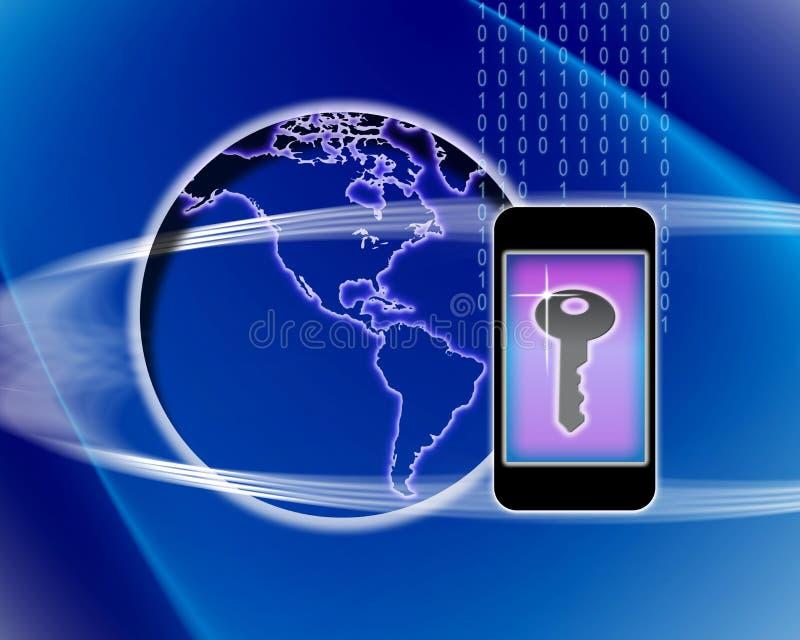De mobiele Sleutel van de Telefoon tot de Wereld vector illustratie