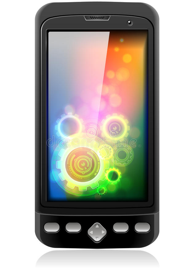 De mobiele Slimme Telefoon van de Cel vector illustratie