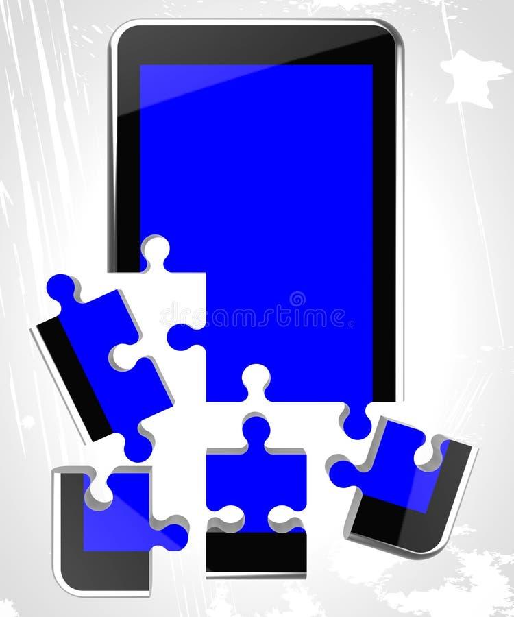 De mobiele Telefoon toont Telefoondebat en Mededeling stock illustratie