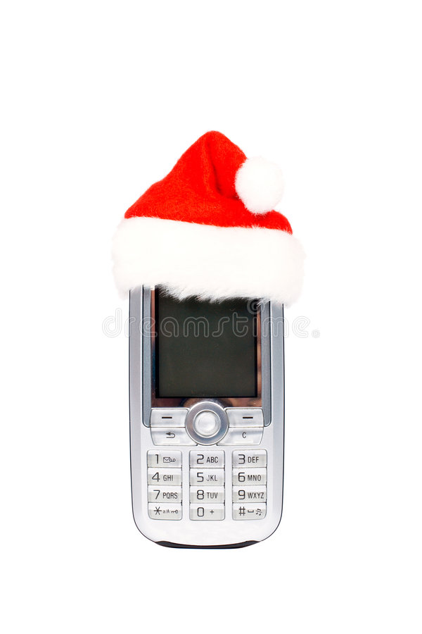 De mobiele telefoon van Kerstmis royalty-vrije stock afbeelding