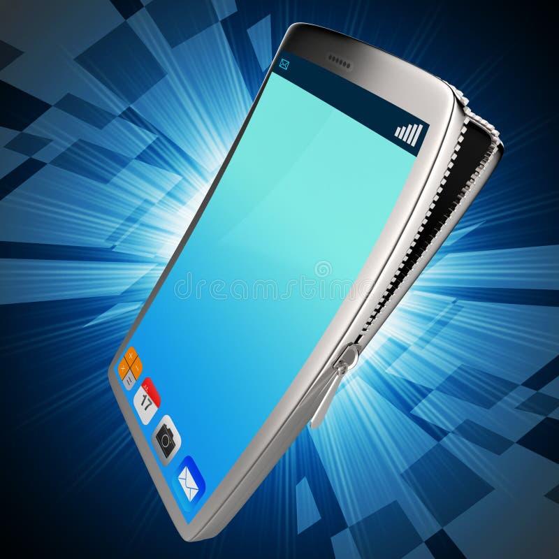De mobiele Telefoon vertegenwoordigt Draagbaar Internet en het Babbelen royalty-vrije illustratie