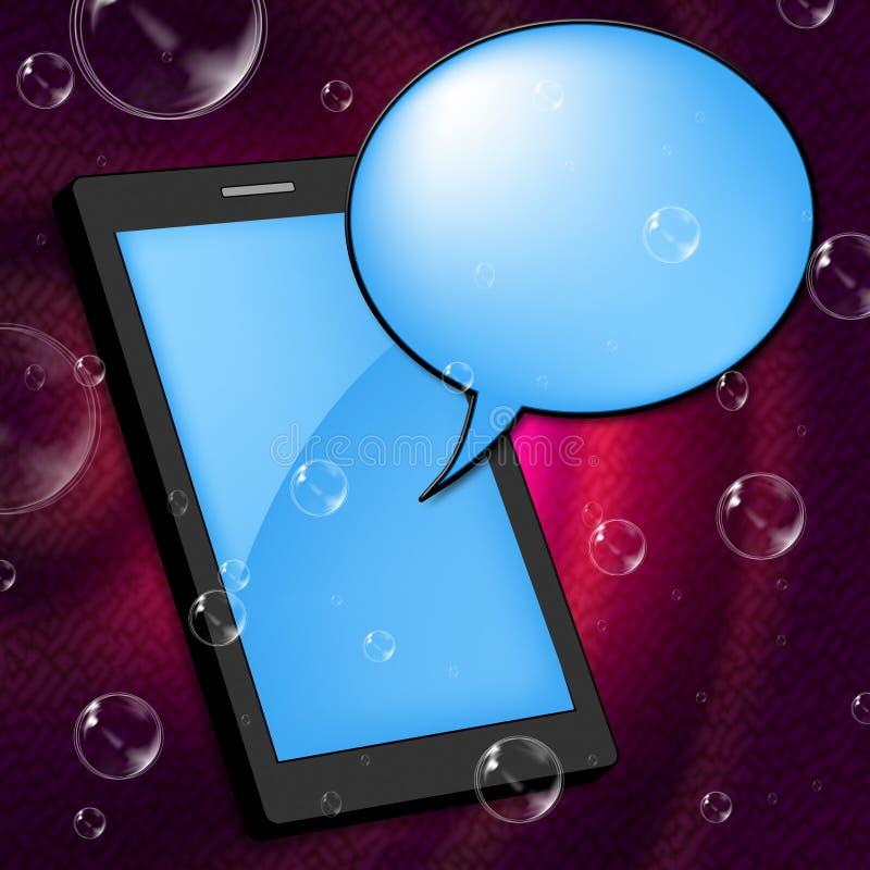 De mobiele Telefoon vertegenwoordigt Mededeling Internet en Draagbaar royalty-vrije illustratie