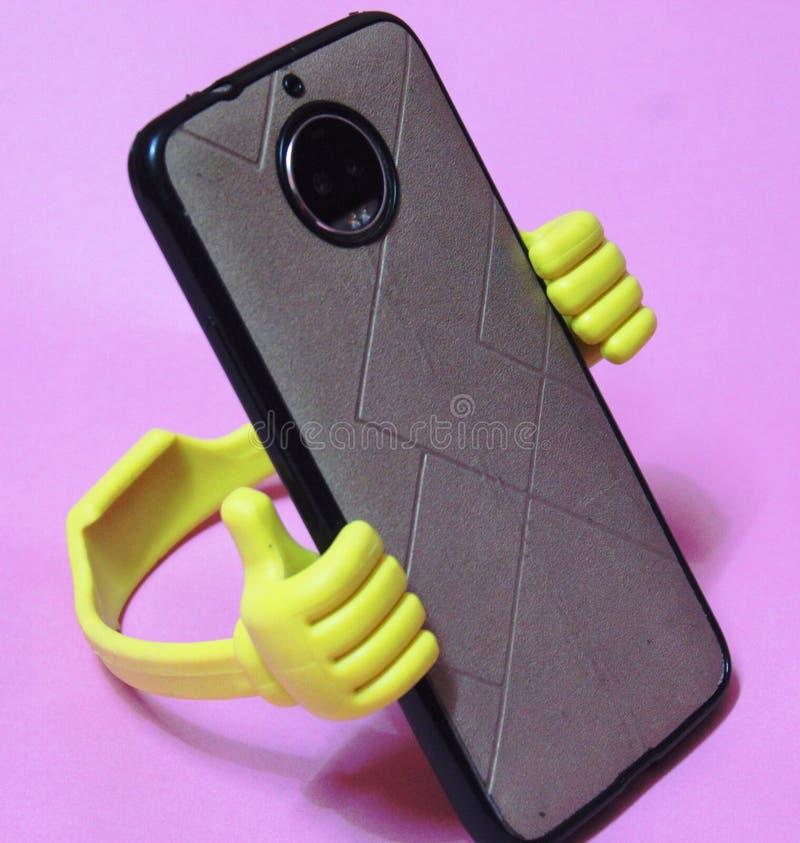 De mobiele telefoonhouders, toebehoren van mobiel, kunnen als symbool worden gebruikt royalty-vrije stock foto