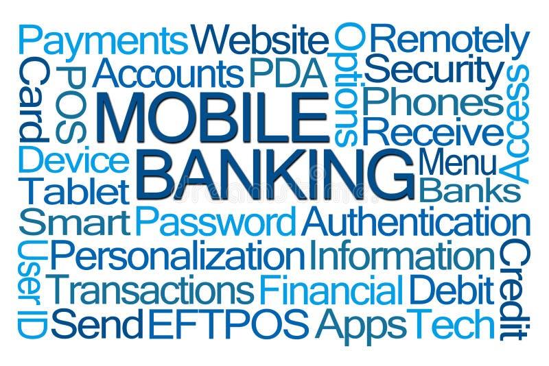 De mobiele wolk van het bankwezenwoord stock illustratie