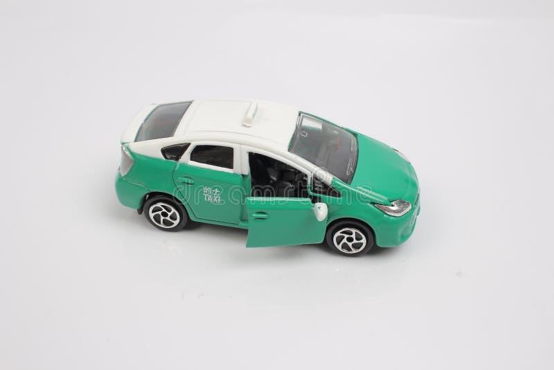 De modeltaxi in Hongkong stock afbeeldingen
