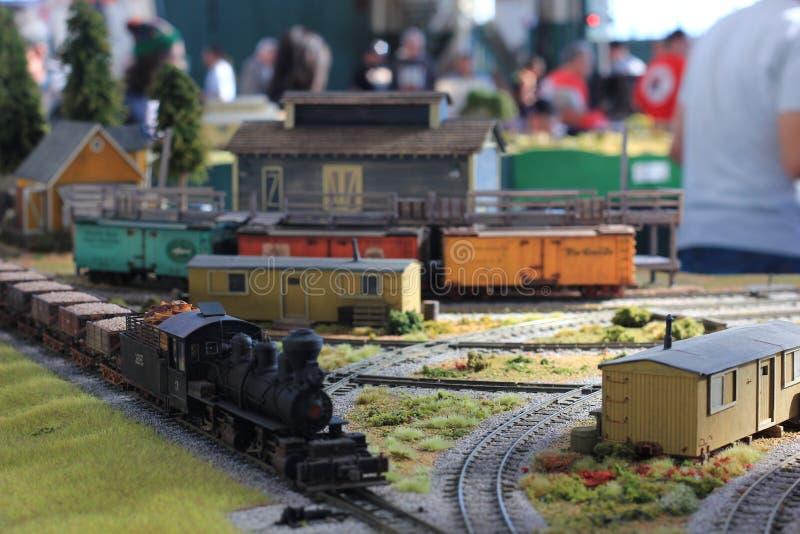 De modeltreinen bij vertoning bij de Grote Trein tonen royalty-vrije stock afbeeldingen