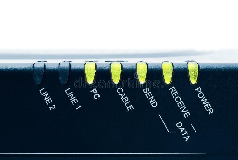De Modem van de kabel stock foto