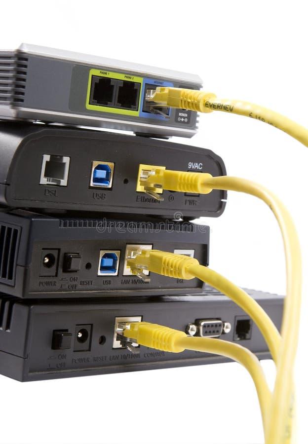 De modems van DSL royalty-vrije stock fotografie