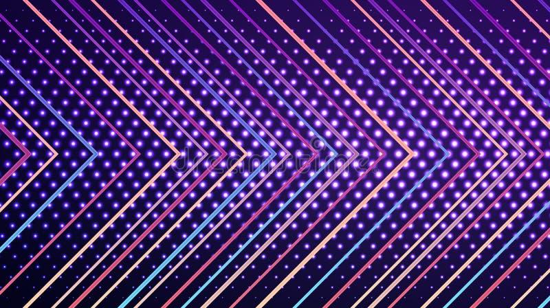 De moderne abstracte geometrische achtergrond van de pijlmuur vector illustratie