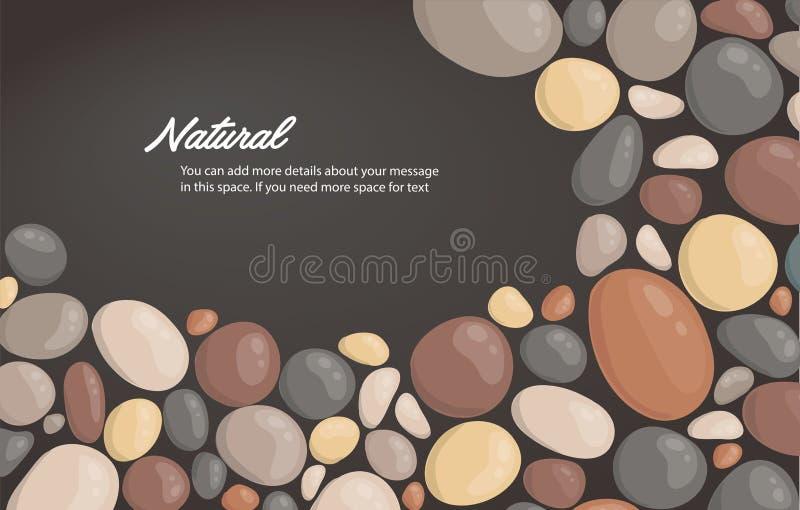 De moderne achtergrond en de ruimte van de stijl dichte omhooggaande ronde steen voor schrijven behang vectorillustratie vector illustratie