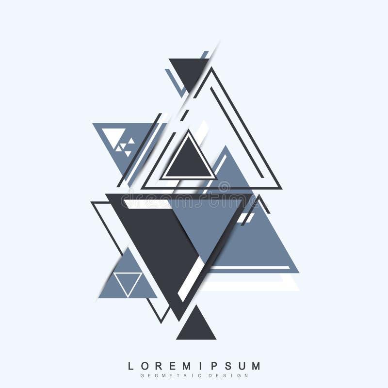De moderne achtergrond van de hipsterdriehoek Willekeurig driehoekenpatroon Het abstracte malplaatje van het technologieontwerp i royalty-vrije illustratie