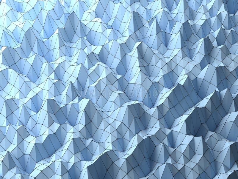 De moderne achtergrond van wetenschaps abstracte veelhoekige geometrische die vormen door de structuren van het draadnetwerk word stock afbeelding