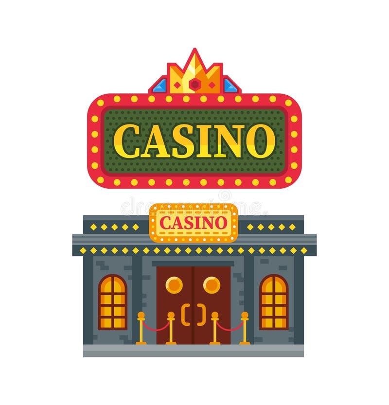 De moderne architecturale casinobouw, het gokken huis voor spelen, Las Vegas royalty-vrije illustratie