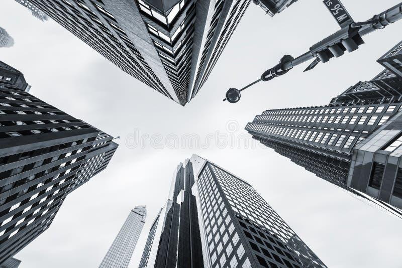 De Moderne Architectuur van Manhattan stock afbeeldingen