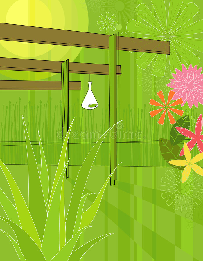 De moderne As van de Tuin vector illustratie