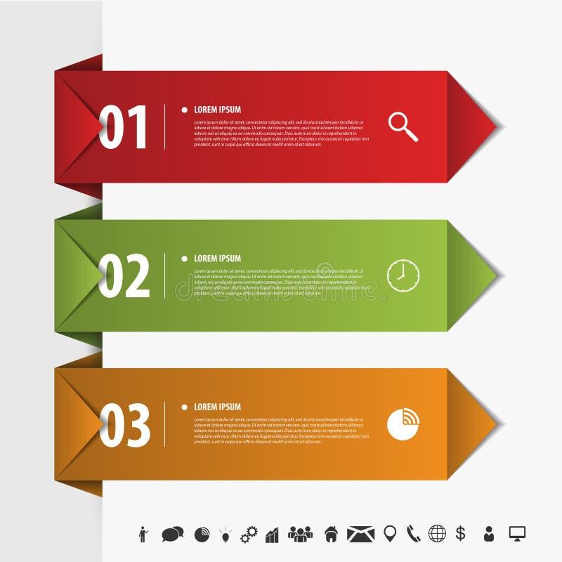 De moderne banner van de de origamistijl van het infographicselement Vector vector illustratie