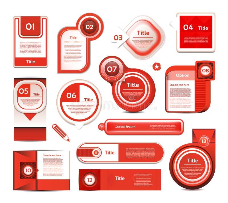De moderne banner van infographicsopties Vector illustratie kan voor werkschemalay-out, diagram, aantalopties, Webontwerp, pri wo royalty-vrije illustratie
