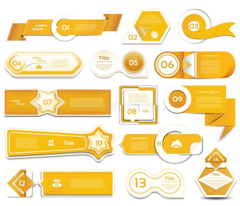 De moderne banner van infographicsopties Vector illustratie kan voor werkschemalay-out, diagram, aantalopties, Webontwerp worden  stock illustratie