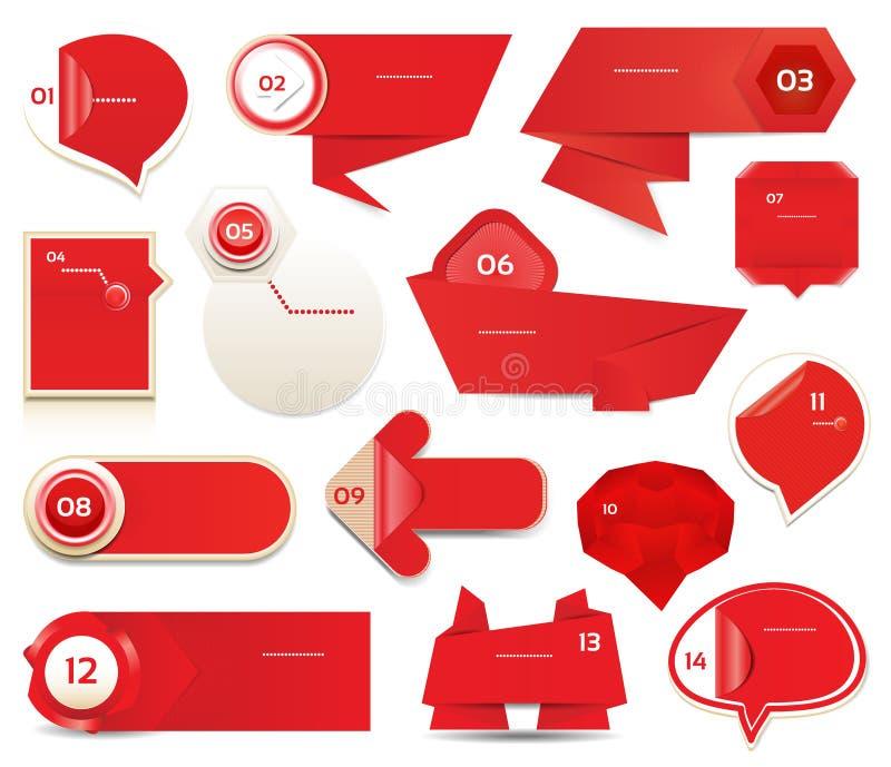 De moderne banner van infographicsopties. Vectorillustratie. kan voor werkschemalay-out, diagram, aantalopties, Webontwerp, pri wo stock illustratie