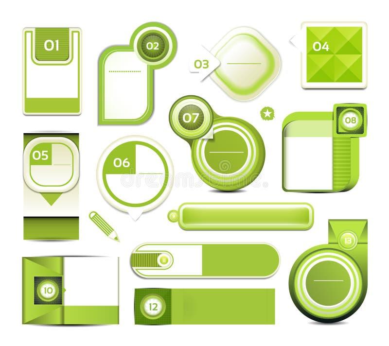 De moderne banner van infographicsopties. Vectorillustratie. kan voor werkschemalay-out, diagram, aantalopties, Webontwerp, pri wo vector illustratie